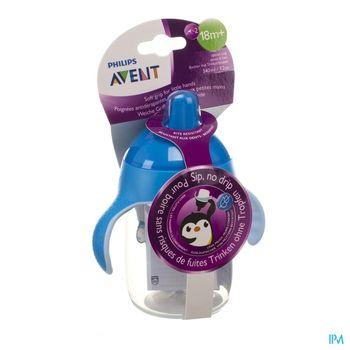 avent-gobelet-anti-fuite-pinguin-bleu-340-ml-a-partir-de-18-mois