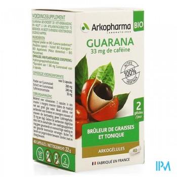 arkogelules-guarana-bio-40-gelules
