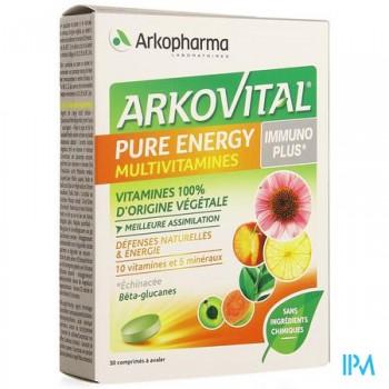 arkovital-pure-energy-multivitamines-immunoplus-30-comprimes